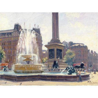 Tableaux modernes - Tableau -Trafalgar Square, London (oil on canvas)- - Barrow, Julian