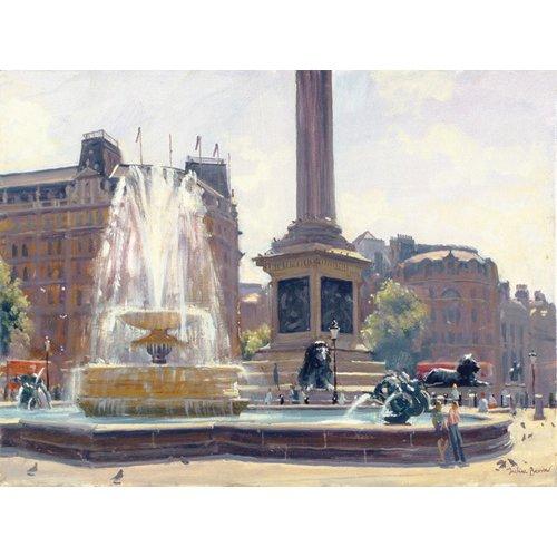 Tableau -Trafalgar Square, London (oil on canvas)-
