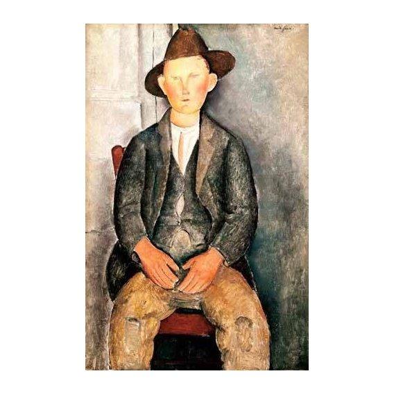pinturas do retrato - Quadro -El pequeño campesino-