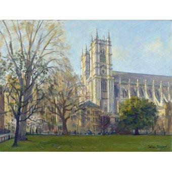 Tableaux de paysages - Tableau -Westminster Abbey from Dean's Yard (oil on canvas)- - Barrow, Julian