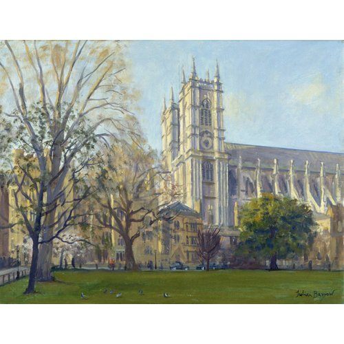 Tableau -Westminster Abbey from Dean's Yard (oil on canvas)-