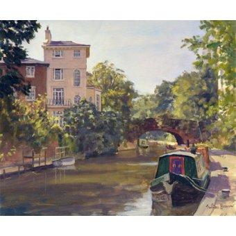 Tableaux de paysages - Tableau -Regent's Park Canal (oil on canvas)- - Barrow, Julian