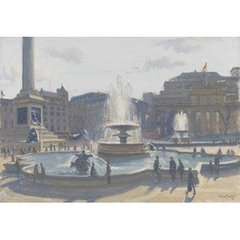 Tableaux de paysages - Tableau -Trafalgar Square, 2010 (oil on canvas)- - Barrow, Julian