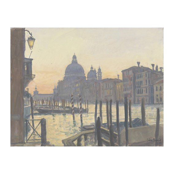 Tableau -Sunrise Grand Canal, 2009 (oil on canvas)-
