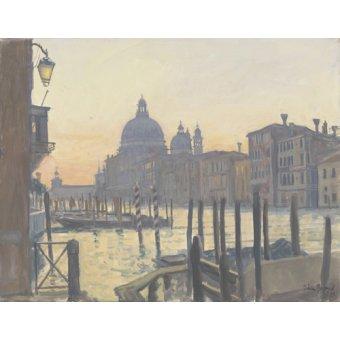 Tableaux de paysages - Tableau -Sunrise Grand Canal, 2009 (oil on canvas)- - Barrow, Julian