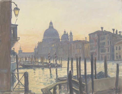 tableaux-modernes - Tableau -Sunrise Grand Canal, 2009 (oil on canvas)- - Barrow, Julian