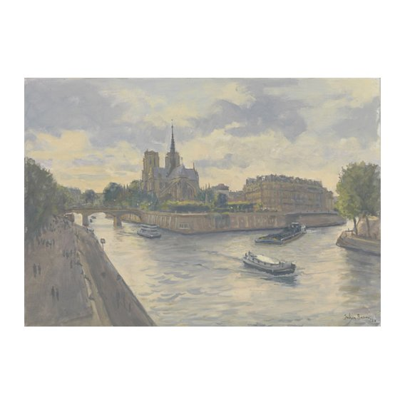 Tableau-Ile de La Cite, 2010 (oil on canvas)-