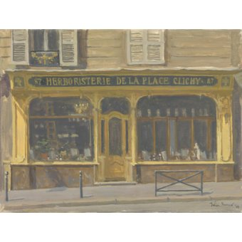 Tableaux de paysages - Tableau -Herboristerie de la Place Clichy, 2010 (oil on canvas)- - Barrow, Julian