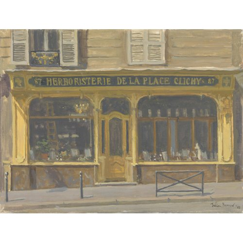Tableau -Herboristerie de la Place Clichy, 2010 (oil on canvas)-