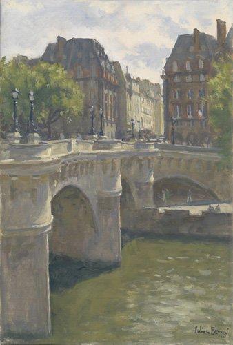 tableaux-modernes - Tableau -Pont Neuf, 2010 (oil on canvas)- - Barrow, Julian