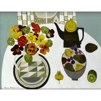 Tableaux nature morte - Tableau - Nasturtiums in Geometric Jug - - Bowman, Vanessa