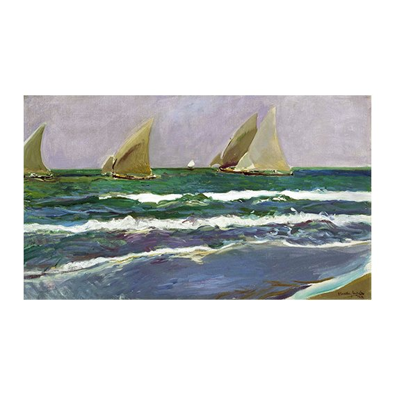 Tableau - Quatre voiliers dans la mer, Valencia, 1908 -