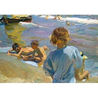 Tableaux de paysages marins - Tableau - Enfants sur la plage, 1916 - - Sorolla, Joaquin