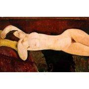 Tableau -Desnudo femenino acostado-