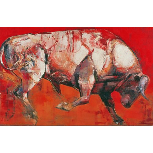Tableau -The White Bull, 1999 (oil on board)-