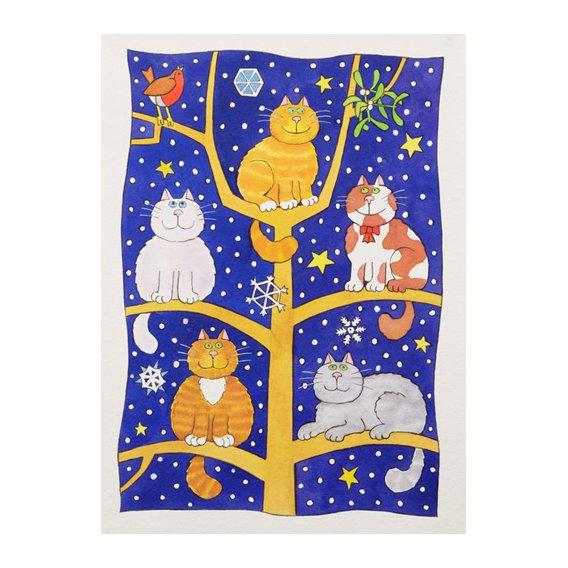 Tableau -Five Christmas Cats-