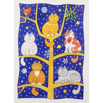 - Tableau -Five Christmas Cats- - Baxter, Cathy