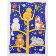 Tableau -Five Christmas Cats-