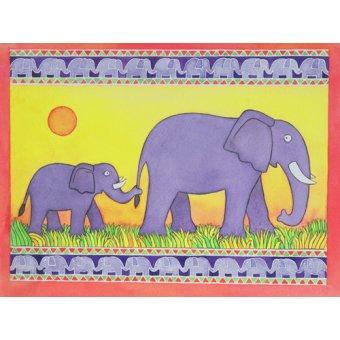 Tableaux pour enfants - Tableau -Elephants- - Baxter, Cathy