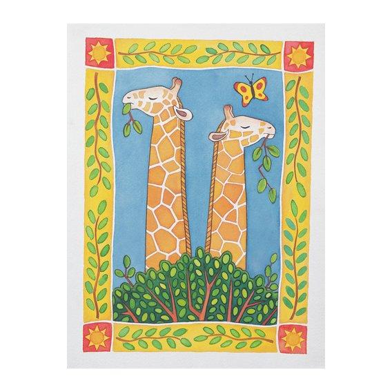 Tableau -Giraffes-