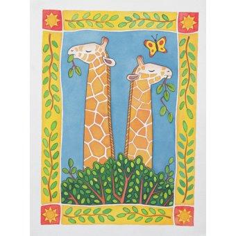 Tableaux pour enfants - Tableau -Giraffes- - Baxter, Cathy