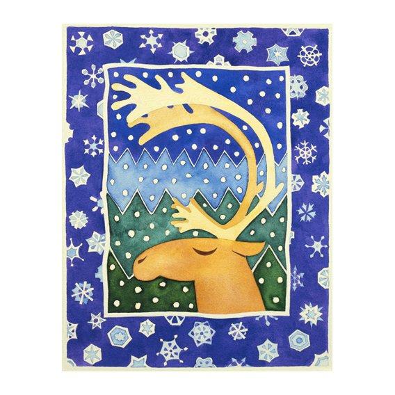 Tableau-Reindeer and Snowflakes-