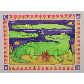Tableaux pour enfants - Tableau -Crocodiles- - Baxter, Cathy