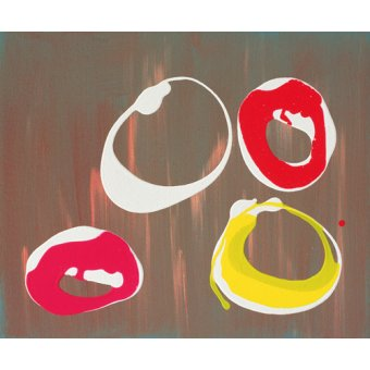 Tableaux abstraits - Tableau-Young Flying Fish III, 1997 (acrylic on canvas)- - Booth, Colin
