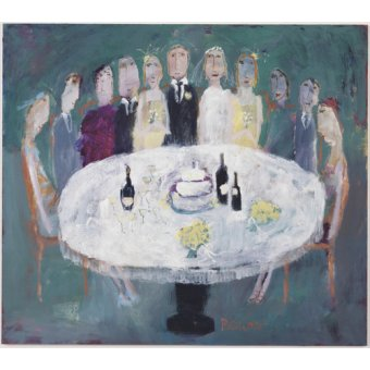 Tableau-Wedding Breakfast, 2007 (oil on board)-