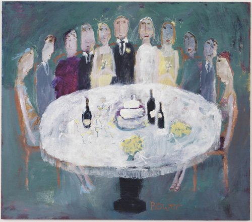tableaux-modernes - Tableau-Wedding Breakfast, 2007 (oil on board)- - Bower, Susan