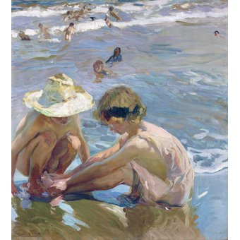 Tableaux pour enfants - Tableau - Le pied blessé, 1909 - - Sorolla, Joaquin