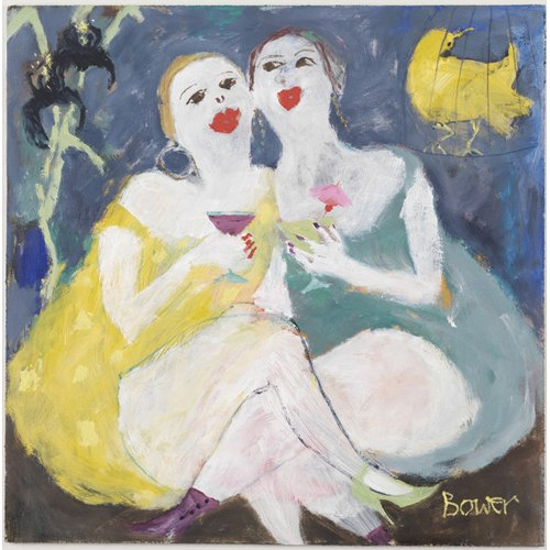 Tableau -Friday Night Girls, 2007 (oil on board)-