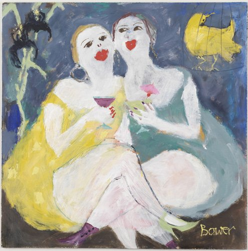 tableaux-modernes - Tableau -Friday Night Girls, 2007 (oil on board)- - Bower, Susan