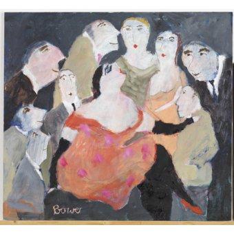 Tableaux de Personnages - Tableau -Look at Me, 2009 (oil on board)- - Bower, Susan