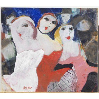 - Tableau -Les Belles Dames, 2009 (oil on board)- - Bower, Susan