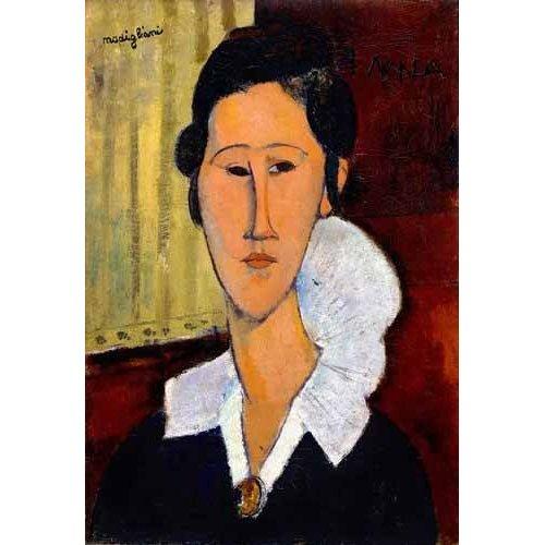pinturas do retrato - Quadro -Retrato de Anna Zborowska-