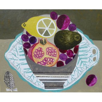 - Tableau -Fruitbowl on Fern Plate- - Bowman, Vanessa