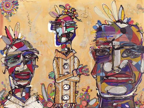 tableaux-orientales - Tableau -Filmic, 2007 (mixed media)- - Breslin, Anthony