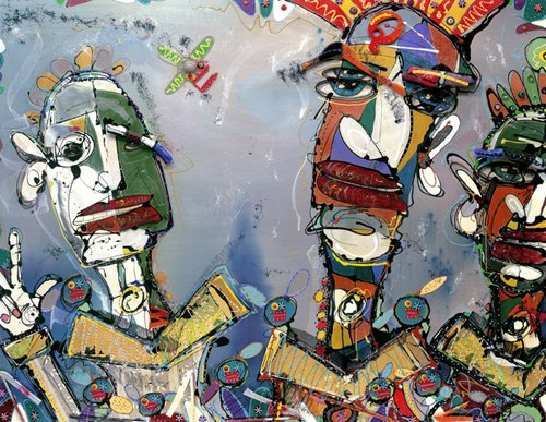 tableaux-orientales - Tableau -Kraftwork, 2006 (mixed media)- - Breslin, Anthony