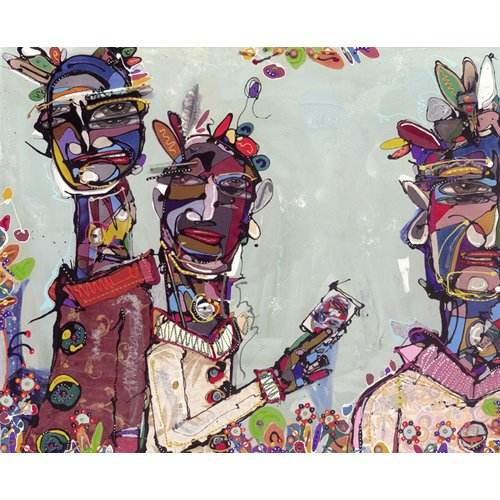 Tableau -Have You Seen This Man, 2007 (mixed media)-