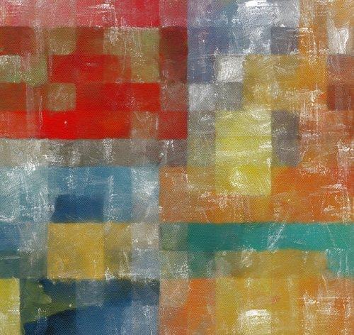 tableaux-modernes - Tableau -as a flag,2017,(mixed media)- - Caminker, Alex