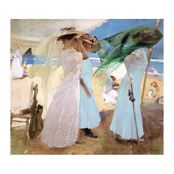 Tableau - Bajo el toldo, Zarautz, 1910 -