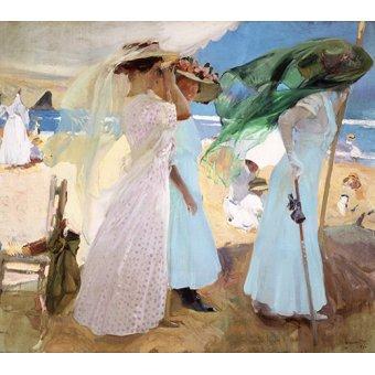 Tableaux de paysages marins - Tableau - Sous l'auvent, Zarautz, 1910 - - Sorolla, Joaquin
