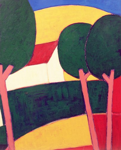 tableaux-modernes - Tableau - Provencal Paysage, 1997 - - Donne, Eithne