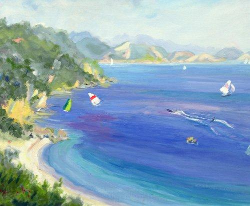 tableaux-de-paysages-marins - Tableau - Lichnos, Epirus, Greece, 1993 - - Durham, Anne