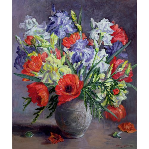 Tableau - Poppies and Irises, 1991 -