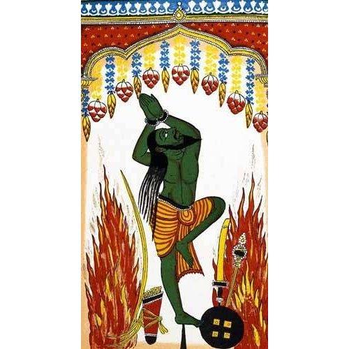 Tableau -Ardjama, hombre santo, rezando en penitencia-