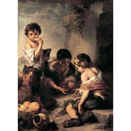 Tableau -Niños jugando a los dados-