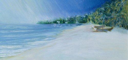 tableaux-de-paysages-marins - Tableau - Coco Beach, Goa, India, 1997 - - Elliot, Sophia