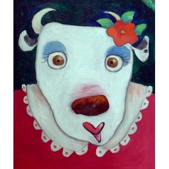 Tableaux pour enfants - Tableau -Silly Cow (oil on canvas)- - Christie, Maylee